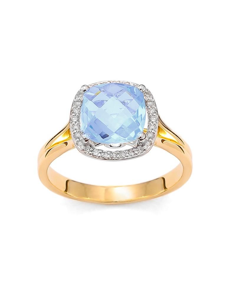 Pierścionek zaręczynowy z niebieskim topazem gwarantem udanych i niezapomnianych zaręczyn