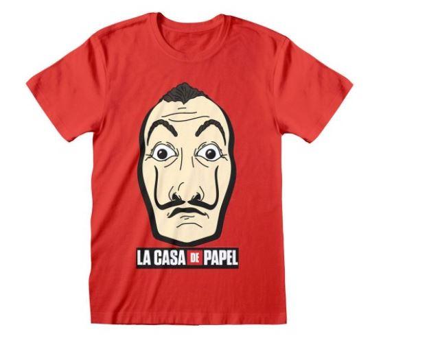 """Koszulki z motywem """"Dom z papieru"""" – stylowy dodatek do kolekcji."""
